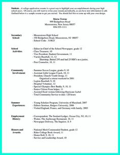 resume sample format job high school students college application for seniors - Sample College Resumes For High School Seniors