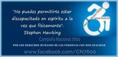 Por los derechos humanos de las personas con discapacidad. www.facebook.com/CN7600