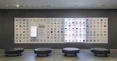 Installation view of Inbox: The Original Emoji, by Shigetaka Kurita at The Museum of Modern Art, New York. Shown: Shigetaka Kurita, NTT DOCOMO. Emoji (original set of 176). 1998–99. Software and digital image files. Gift of NTT DOCOMO Inc., Japan. © 2016 NTT DOCOMO. Photo: John Wronn