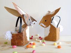 schaeresteipapier: An Easter bunny basket from the milk packaging