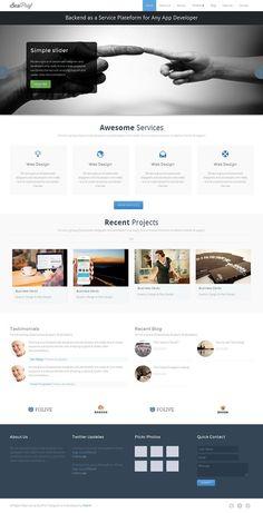 Busiprof Premium WordPress Theme by Webriti on @creativemarket