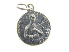 Vintage Saint Gerard of Majella - Our Lady Perpetual Help Catholic Medal - Patron St of Mothers - Religious Charm by LuxMeaChristus
