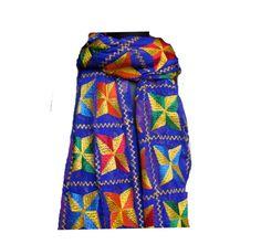 Phulkari scarf/phulkari dupatta/ chiffon dupatta/ scarf/  large scarf/ purple scarf/ gift scarf / gift ideas. by vibrantscarves on Etsy