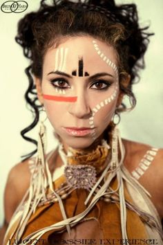 festival face paint tribal | MakeUp Idea                                                                                                                                                                                 More