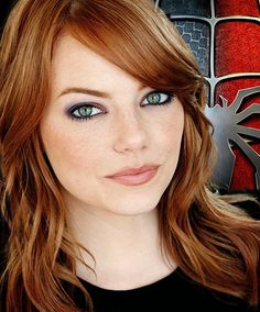 57 New Ideas Hair Color For Green Eyes Redheads Emma Stone Beautiful Redhead, Beautiful Eyes, Natural Redhead, Pretty Eyes, Emma Stone Interview, Wedding Makeup Redhead, Makeup Tips For Redheads, Actress Emma Stone, Red To Blonde