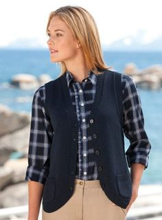 #Heathered #Cotton/Cashmere Sweater #Vest   really love it!   http://amzn.to/IqAQlj