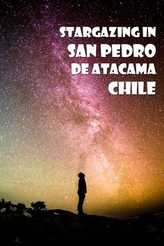 Stargazing in San Pedro de Atacama is a must do tour in North Chile. Because of the altitude and dryness of the Atacama desert you'll have a great night out Stars At Night, Star Night, Equador, Costa Rica Travel, South America Travel, Central America, Stargazing, Adventure Travel, Travel Inspiration