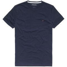 Klassisches T-Shirt von Tommy Hilfiger mit Rundhalsausschnitt und Logostitching auf der Brust. 100% Baumwolle...