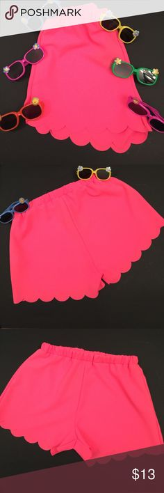 PINK PETALS These shorts are completely ADORBS!💞! Hot pink with what looks like petals from a flower cut out for the bottom of the shorts! These are also boutique and NWT! Shorts