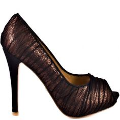 SALE - Womens Badgley Mischka Star Platform Heels Brown Textile - Was $209.99 - SAVE $21.00. BUY Now - ONLY $188.99
