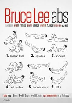 Great Ab Workout!  Do them every night before bed.
