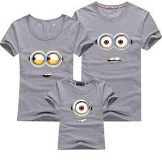 Cool Short Sleeve Minions Family Matching Cotton T-Shirt //Price: $11.99 & FREE Shipping // #fashion