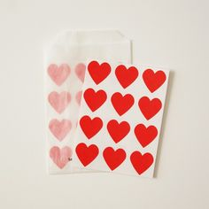 Valentines Day Red Heart Envelope Seal Stickers - Set of 24 ($2.25) - Svpply
