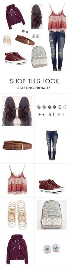 """""""school"""" by spring-roll ❤ liked on Polyvore featuring With Love From CA, H&M, Mavi, Converse and Forever 21"""