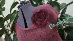 Купить Платье ягодное в стиле бохо - бохо, летнее платье, органза, лен, платье вязаное