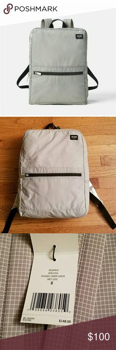 Jack Spade Packable Graph Check Backpack New with tags. This bag is perfect as a day bag or travel. Very slim profile. Lightweight. Jack Spade Bags Backpacks
