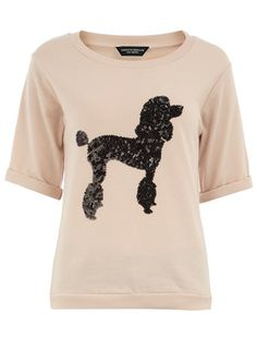 Blush poodle sequin sweater