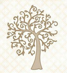 Blue Fern Studios - Chipboard - Wonderland Tree