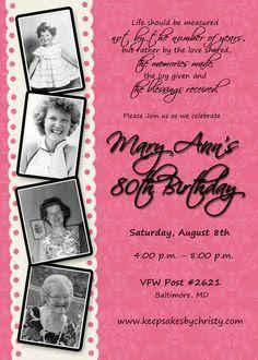 497854a645d37a2f173784b18a89031b year old birthday party ideas birthday silver 80th birthday invitations then & now photos 80th birthday,Birthday Invitations 90 Year Old Woman