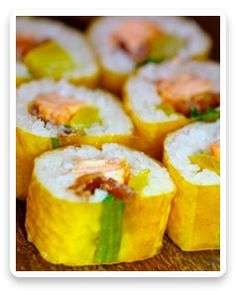 Sushi Recipe For Making MANGO SALMON ROLL RECIPE