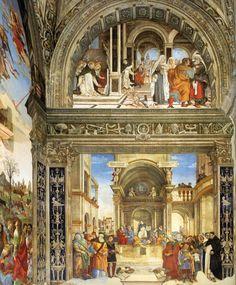 Cappella Carafa in Santa Maria Sopra Minerva.  Lato restro