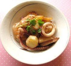 イカとジャガイモのガーリックマヨ炒め