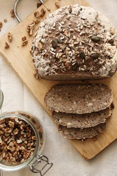 Diabetic Recipes, Gluten Free Recipes, Bread Recipes, Diet Recipes, Vegetarian Recipes, Paleo Bread, Bread Baking, Sin Gluten, Healthy Food Options