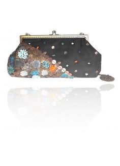 Black Clutches, Mix of Colorful Clutch, Hand Embroidered Black Clutch