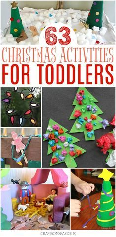 Over 50 fantastic Christmas activities for toddlers with inspiration for Christmas crafts, Christmas sensory play ideas and easy Christmas activities. #christmas #christmascrafts #eyfs #christmasactivities