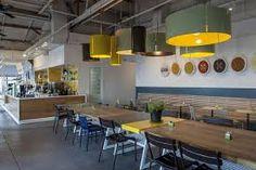 LovEat coffee shop by Ronen Levin Studio beam Tel Aviv Israel Restaurant Interior Design, Cafe Interior, Office Interior Design, Office Interiors, Pub Design, Retail Design, Interior Design Process, Workplace Design, Kitchen Office