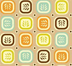 Leaf line design #2 tan