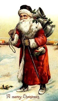 santa in rood