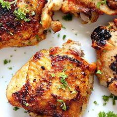 Instant Pot Chicken Thighs Instant Pot Chicken Thighs Recipe - the best and easy way to cook bone-in and skin-on chicken thighs in your pressure cooker. Plus gravy recipe! Bone In Chicken Recipes, Chicken Thigh Recipes, Baked Chicken, Recipe Chicken, Keto Chicken, Rotisserie Chicken, Healthy Chicken, Grilled Chicken, All You Need Is