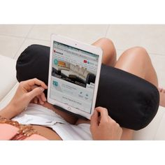 Living Healthy Products TAB-rol1-Blk Tab Roll, Ipad Pillow Tablet, Multicolor