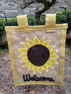 Sunflower Burlap Garden Flag By WREATHSBYCHRISTEE On Etsy Https://www.etsy.