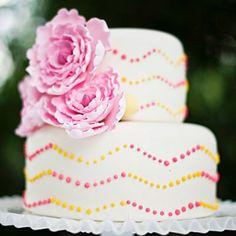 Love this Sweet Chevron cake