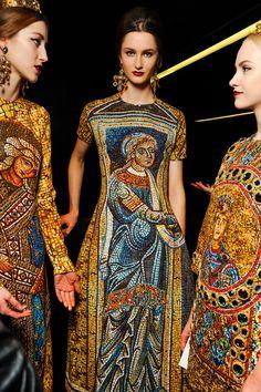 Backstage Dolce & Gabbana Winter 2014 @Milan Fashion Week