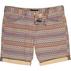 Stone Aztec print shorts - chino shorts - shorts - men ($48.00) - Svpply
