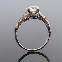Antique 1920's Platinum Diamond Filigree by SITFineJewelry on Etsy. $10,575