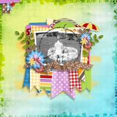 made using Pool Party kit by the Kit Cart at Digital Scrapbooking Studio
