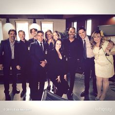 """criminalmindsfeed: """"@Esai_Morales: Today with the entire brilliant cast of #CriminalMinds #CBS #TV @CrimMinds_CBS """""""