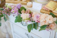Pastel and greenery floral garland