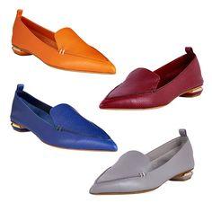 Rank & Style - Nicholas Kirkwood Pebbled Leather Point-Toe Loafers #rankandstyle