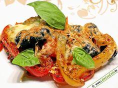 Italienische Antipasti auf Low-Carb-Art mit Parmesan und Mozzarella überbacken. Passt wunderbar als vegetarische Hauptspeise oder auch als Beilage ... #lowcarb Mehr vegetarische Low Carb Rezepte auf http://www.lebelowcarb.de/low-carb-rezepte-fuer-vegetarische-gerichte.html