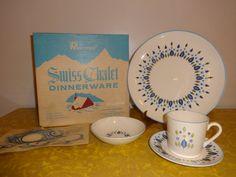 Vintage 2 Dinnerware Sets of NIB Mar-Crest Swiss by Niagara2you
