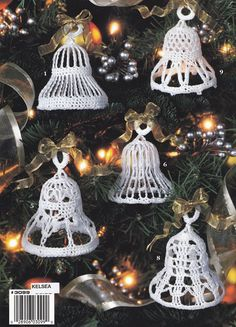 Christmas Bells Crochet  ♪ ♪ ... #inspiration_crochet #diy GB