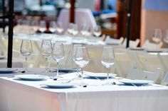 Barcelona Catering Barcelona, White Wine, Catering, Alcoholic Drinks, Glass, Food, Boats, Events, Alcoholic Beverages