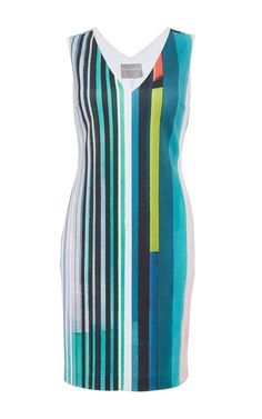 68ddd90b79356c Striped Eclipse Sleeveless Dress With White Piping by CLOVER CANYON Now  Available on Moda Operandi Clover