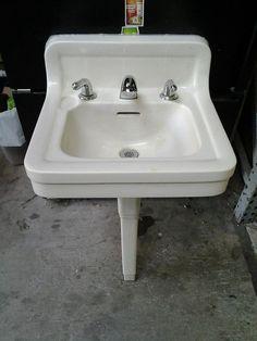 Antique Crane Peg Leg Sink   2 Available