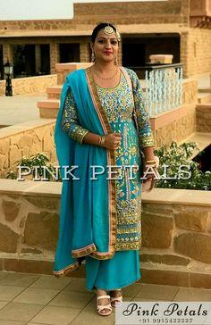 Salwar Suits Party Wear, Punjabi Salwar Suits, Patiala Salwar, Gharara Designs, Patiala Suit Designs, Plazzo Suits, Boutique Suits, Indian Party Wear, Pink Petals